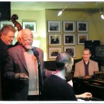 onstage with Kieran Overs, Barry Harris and Dave Laing