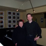 after gig with Sheila Jordan